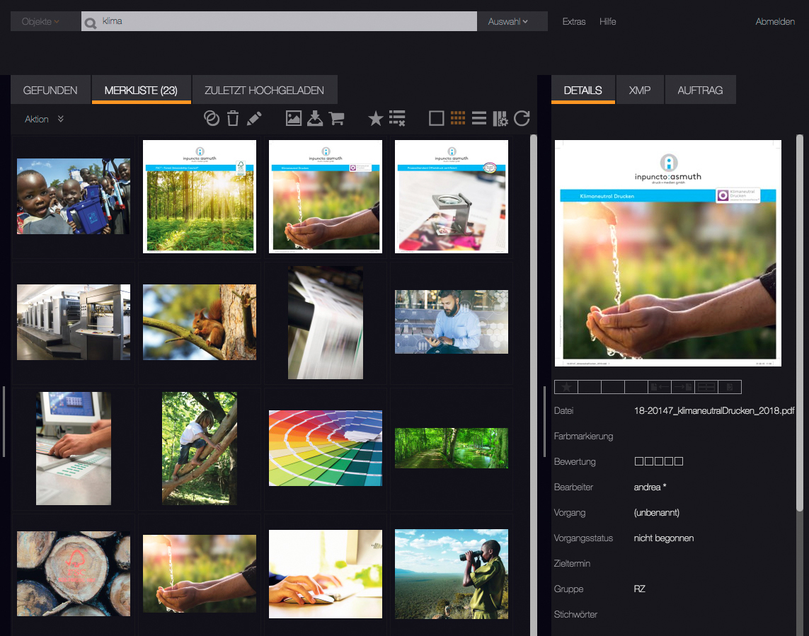 Bilddatenbank Mediendatenbank Produktdatenbank