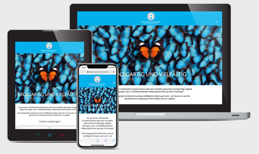 responsives Webdesign Screendesign